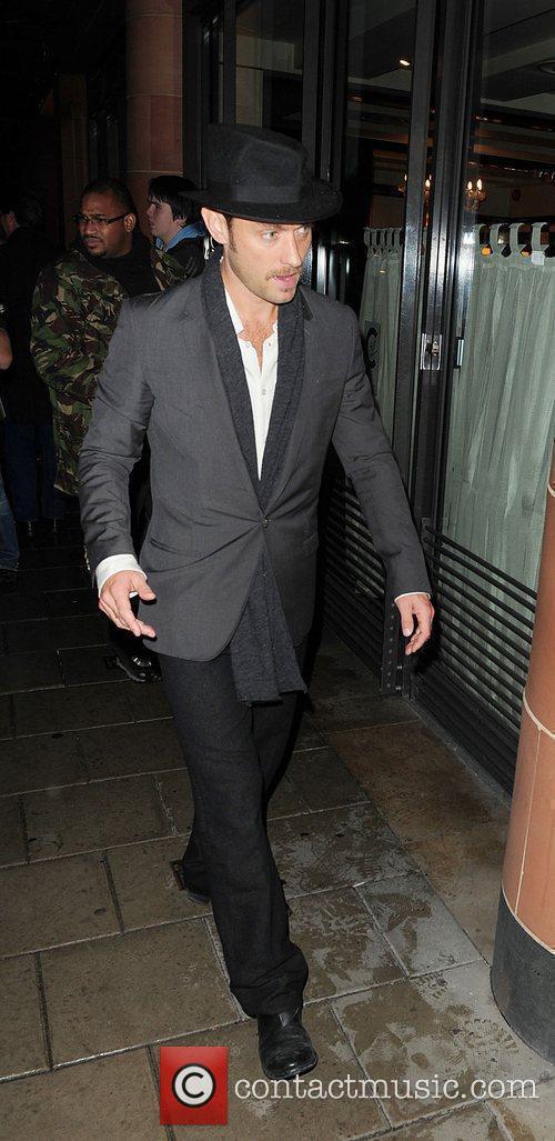 Jude Law leaves C London restaurant London, England