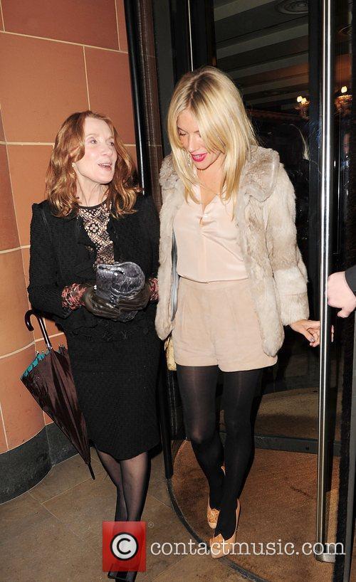 Linda Bruckheimer and Sienna Miller leave C London...