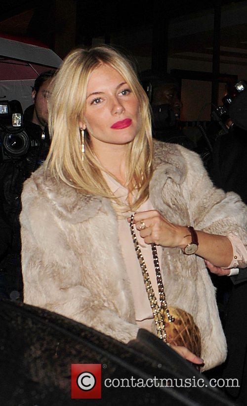 Sienna Miller and Leaves