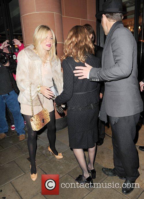 Sienna Miller, Linda Bruckheimer and Jude Law leave...
