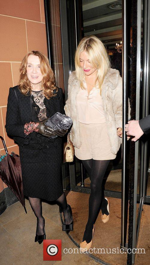 Sienna Miller and Linda Bruckheimer leave C London...