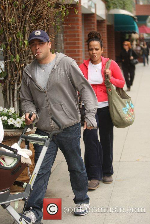 Judy Reyes  and family head to the...