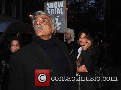 Tariq Ali and Jemima Khan leave Westminster Magistrates...