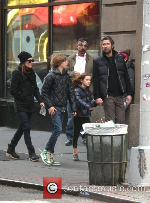 Julianne Moore, with son Caleb daughter Liv and...