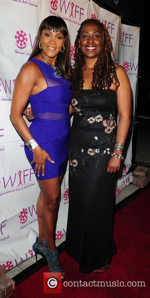 Vivica A. Fox and Yvonne McCormark-Lyons Premiere of...