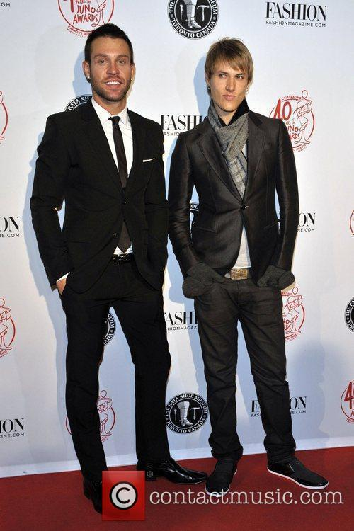 Daniel Johnson and Aaron Verdonk Red Carpet arrival...