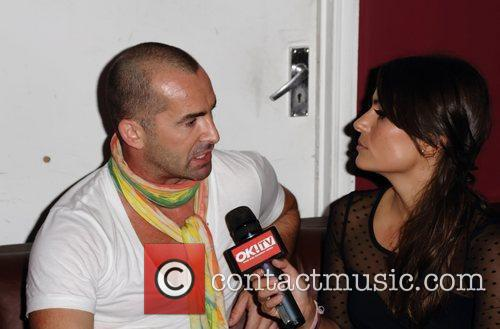 Louie Spence being interviewed by OK TV's Layla...