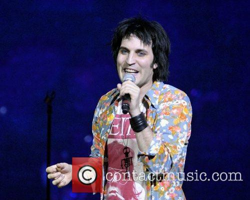 Noel Fielding  performing live on stage during...