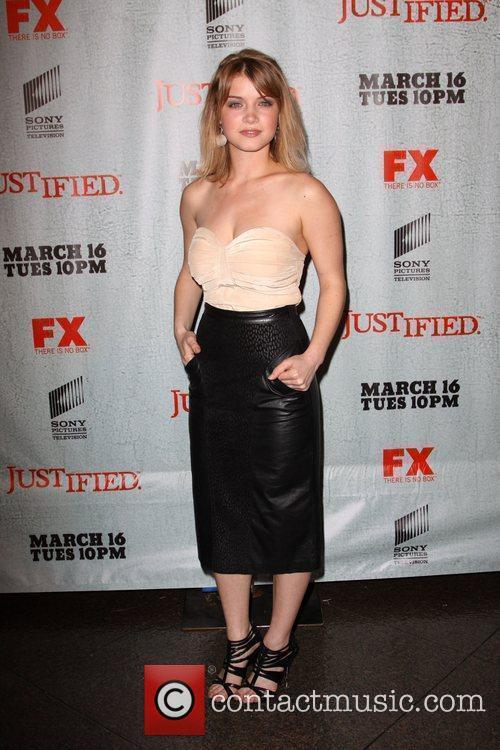 Sarah Jones FX's Justified - Los Angeles Premiere...