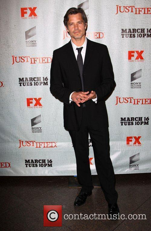 Timothy Olyphant FX's Justified - Los Angeles Premiere...