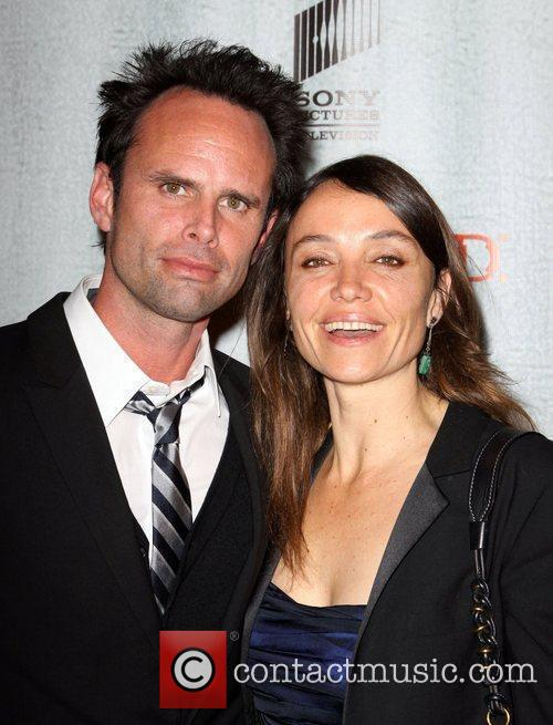 Walton Goggins and wife Nadia Goggins FX's Justified...