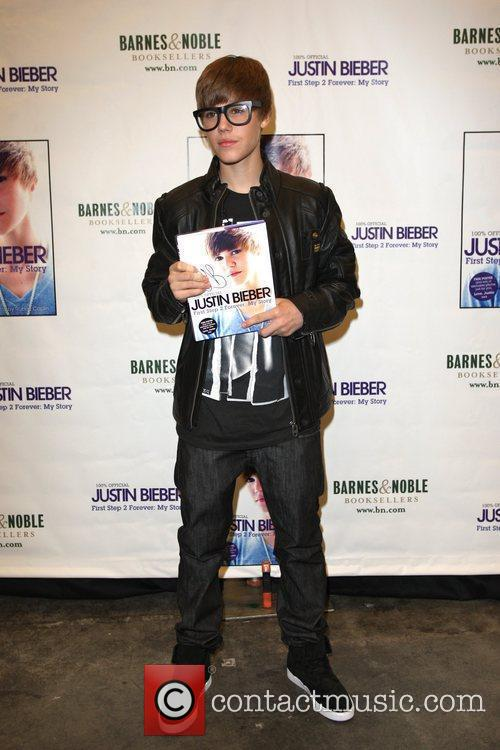 Justin Bieber book signing at Barnes and Noble