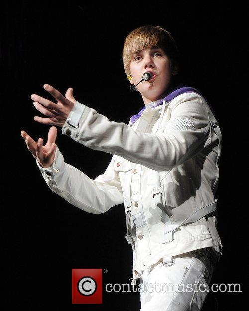 Justin Bieber performs during his 'My World Tour'...