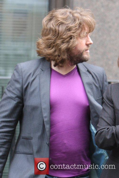 Justin Lee Collins with protruding nipples on display...