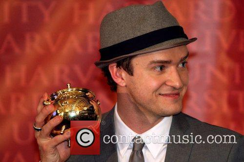 Justin Timberlake  was awarded the Hasty Pudding...