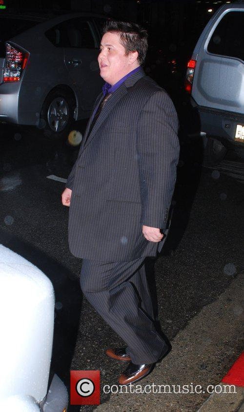 Chaz Bono leaving a party at the Kantor...