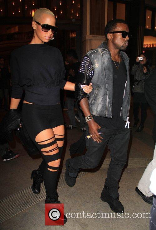 Kanye West and Amber Rose 5