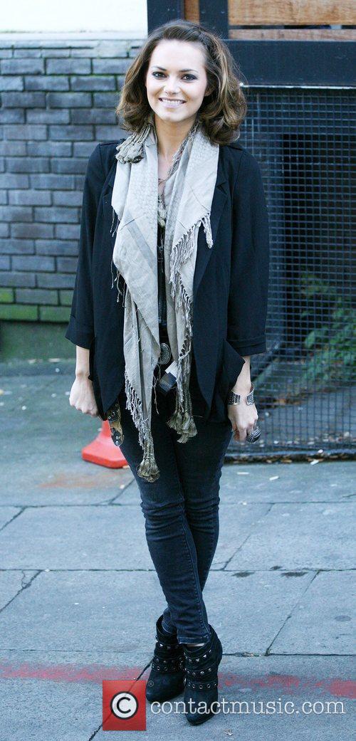 Kara Tointon is seen outside ITV Studios in...