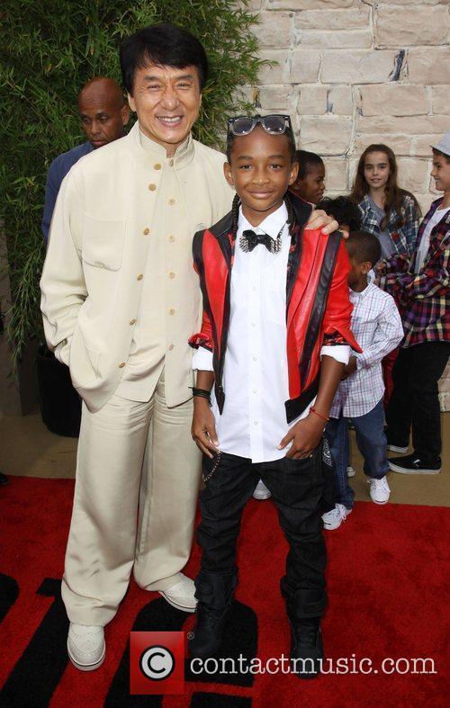 Jaden Smith and Jackie Chan The LA Premiere...