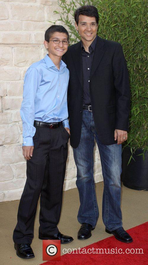 Ralph Macchio and son The LA Premiere of...