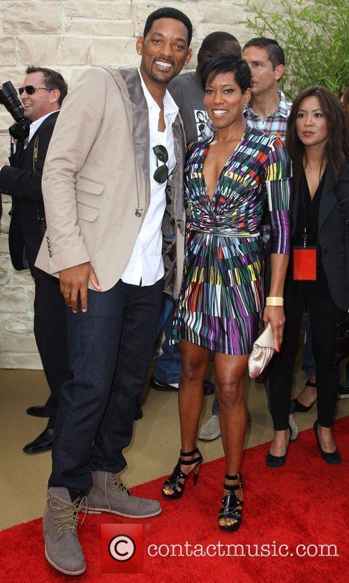 Will Smith, Regina King The LA Premiere of...