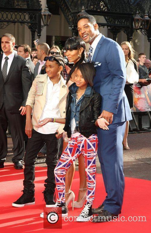 Jaden Smith, Jada Pinkett and Will Smith