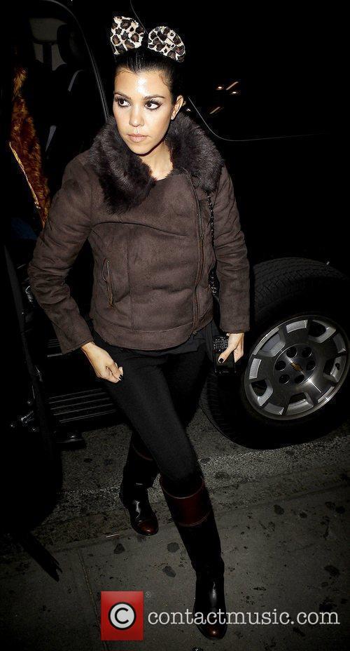 Kourtney Kardashian outside her DASH store in Soho...