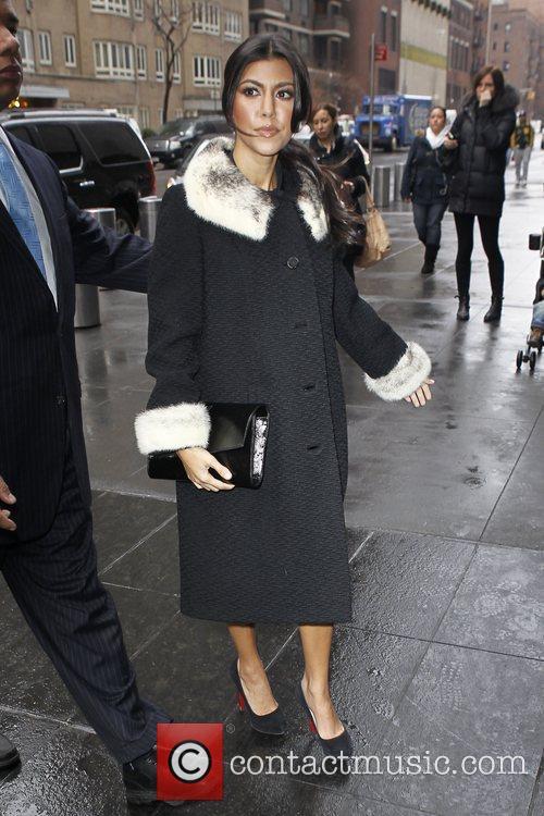 Kourtney Kardashian outside the studio ahead of an...