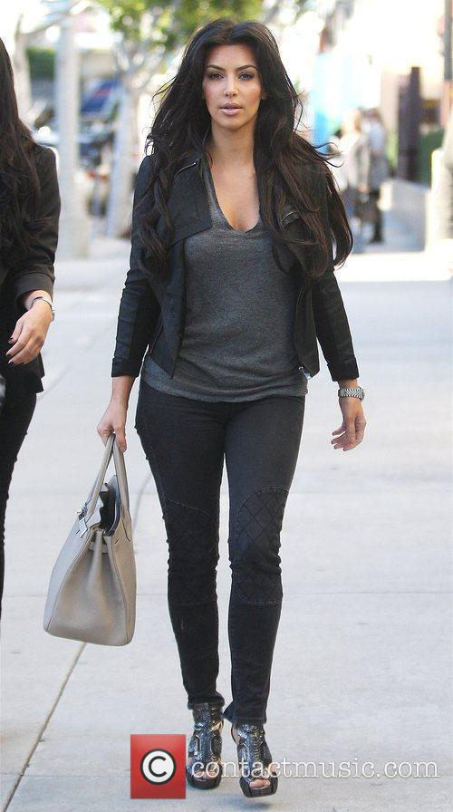 Kim Kardashian out shopping on Robertson Boulevard with...