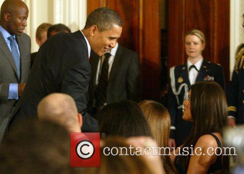 Reality star Khloe Kardashian  met President Barack...