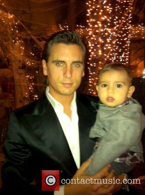 Scott Disick and son Mason Dash Disick pose...