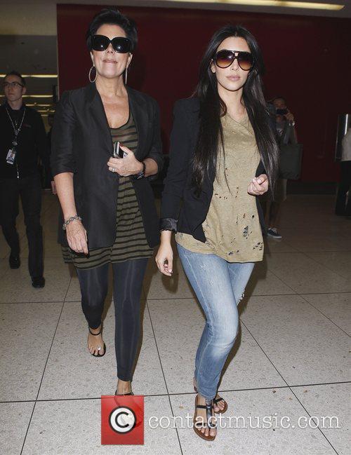 Kim Kardashian and her mum Kris Jenner 2