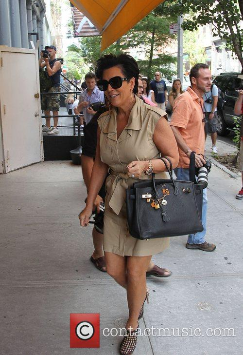 Kris Jenner arriving at Cipriani for lunch with...