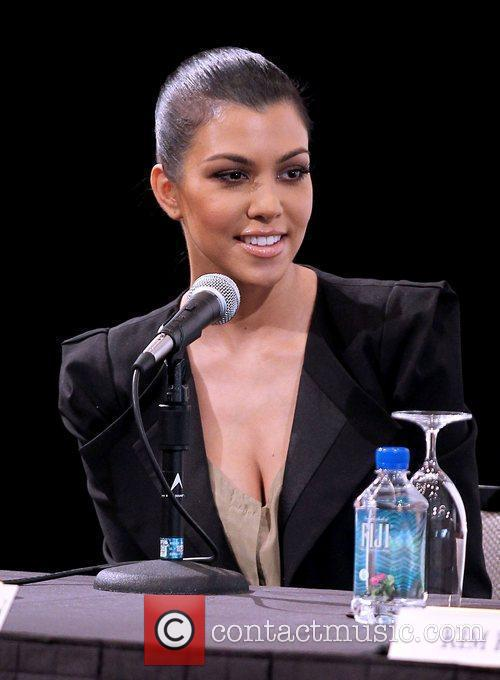 Speaks during a press conference announcing the 'Kardashian...