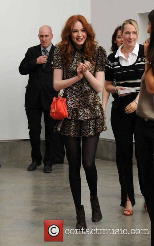 'Dr Who's' Karen Gillan arriving for a signing...