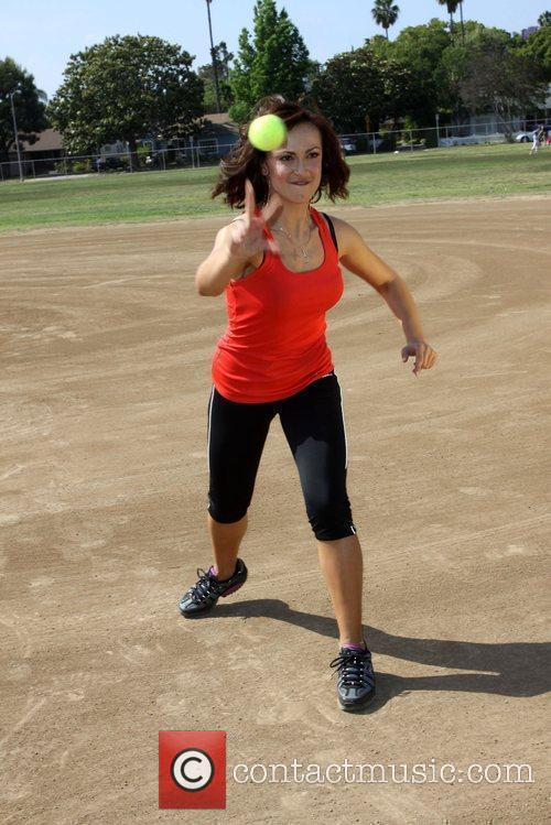 Karina Smirnoff exercises at Moorpark
