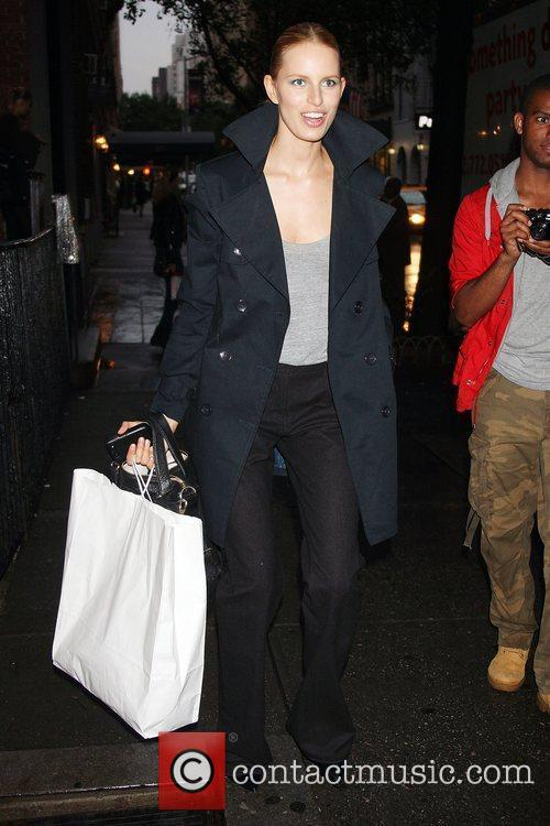 Karolina Kurkova out and about in Manhattan carrying...