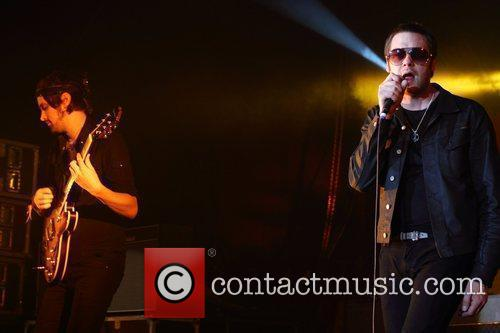 Tom Meighan Kasabian perform at Thebarton Theatre as...