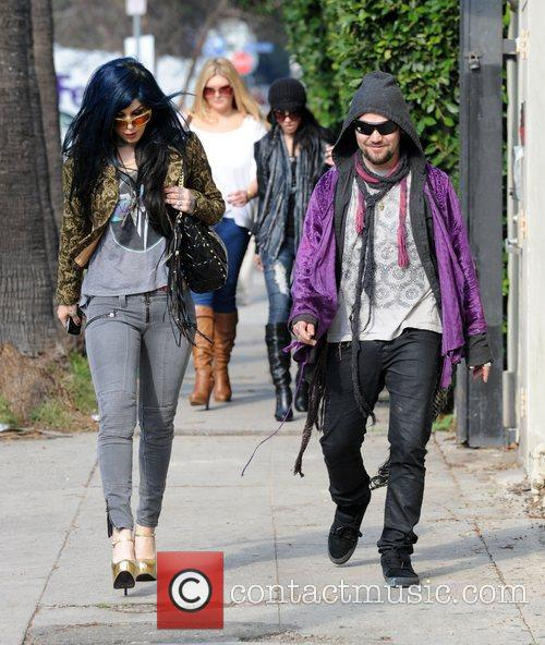 Kat Von D and Bam Margera 2