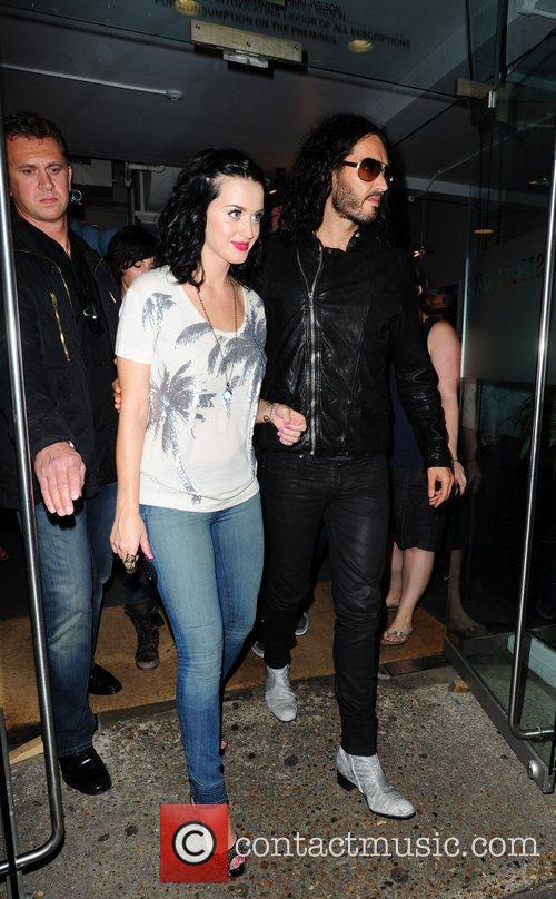 Katy Perry and Russell Brand Leaving a studio...