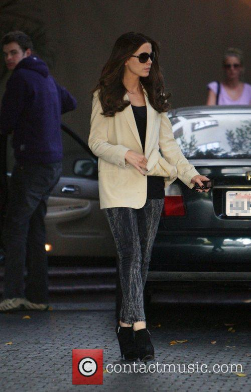 Kate Beckinsale departs the Chateau Marmont Los Angeles,...