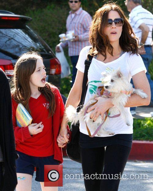 Kate Beckinsale picks up her daughter Lily from...