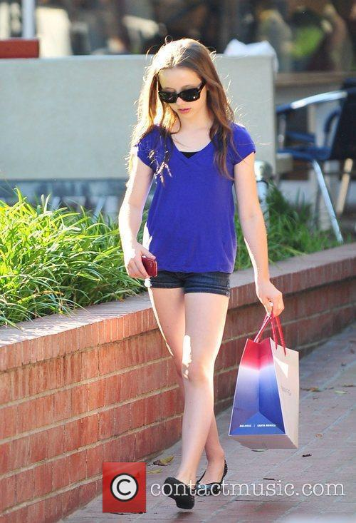 Kate Beckinsale's daughter Lily Mo Sheen shopping in...