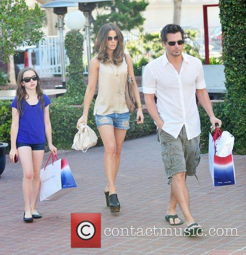Kate Beckinsale, Lily Mo Sheen and Len Wiseman...