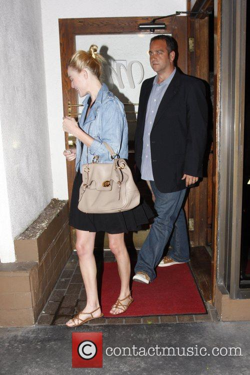 Seen leaving Madeo restaurant in West Hollywood.