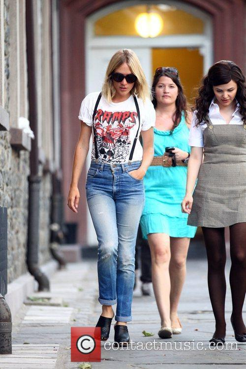 On the set of her new film 'Something...