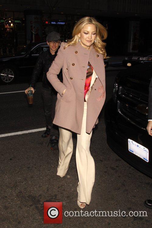 Kate Hudson arriving at her hotel in Manhattan....