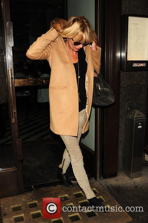 Kate Moss after shopping at Burlington Arcade in...