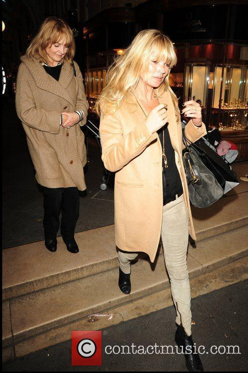 Kate Moss with her mother Linda  after...