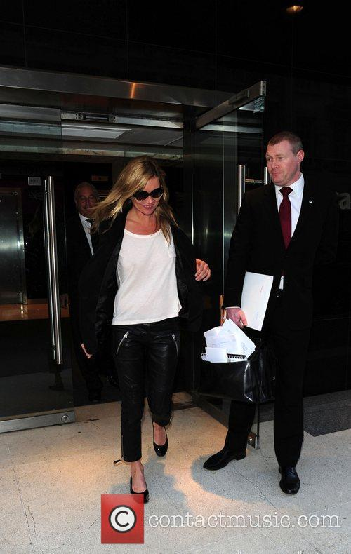 Kate Moss  leaving an office building in...